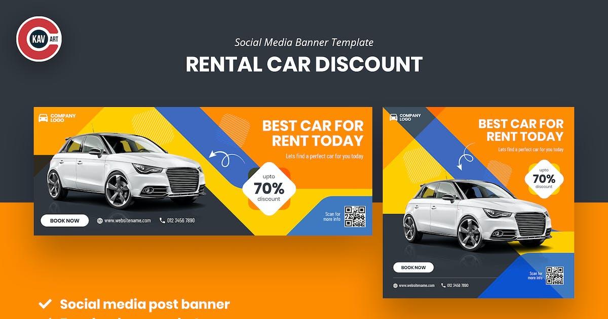 Download Car Rental Social Media Banner Template by C-Kav