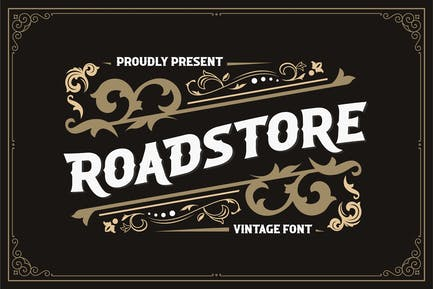 ROADSTORE - Vintage Font