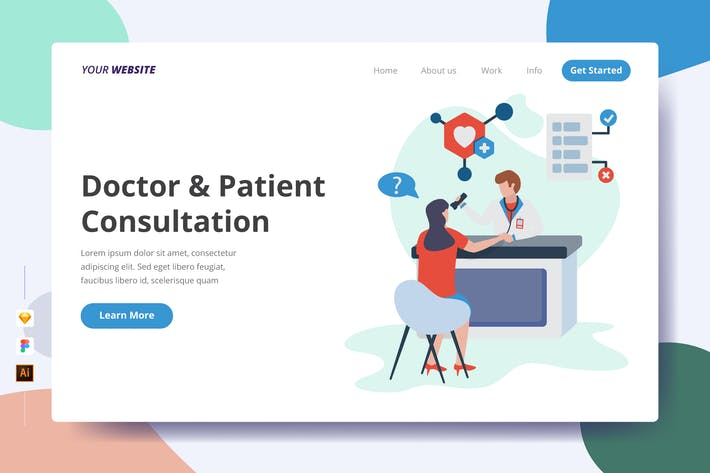 Thumbnail for Doctor & Patient Consultation - Landing Page