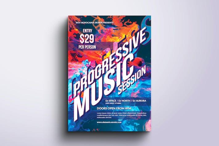Thumbnail for Progressive Music Flyer & Poster
