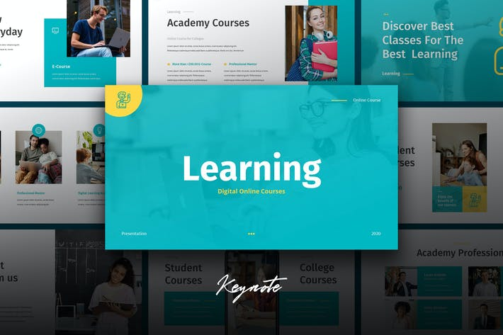 Thumbnail for Learning - Education Theme Keynote Template