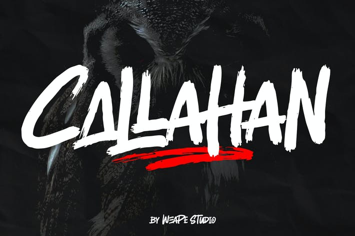 Thumbnail for Callahan - Brush Font