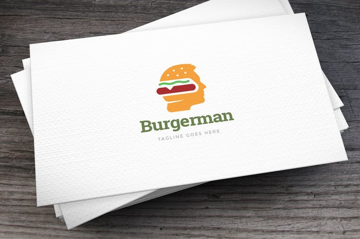 Cover Image For Burgerman Logo Template