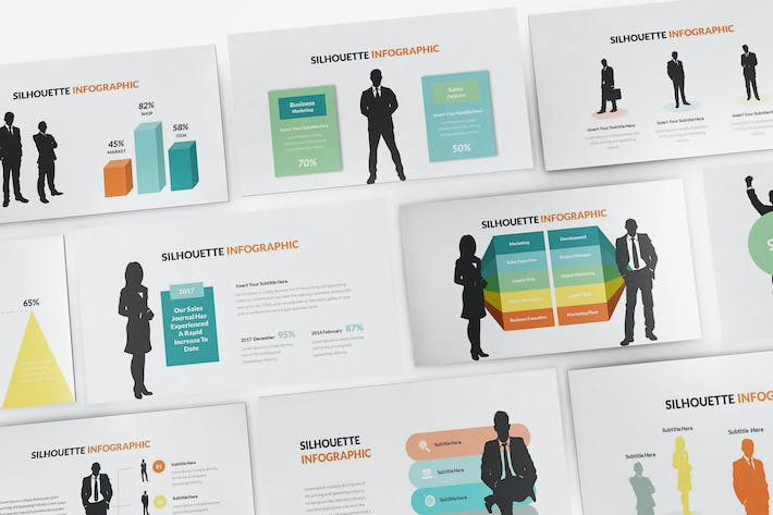 Thumbnail for Silhouette Infographic Keynote Template