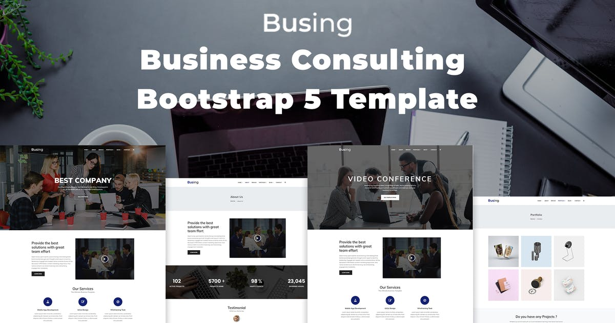 Download Busing - Business Consulting Bootstrap 5 Template by codecarnival