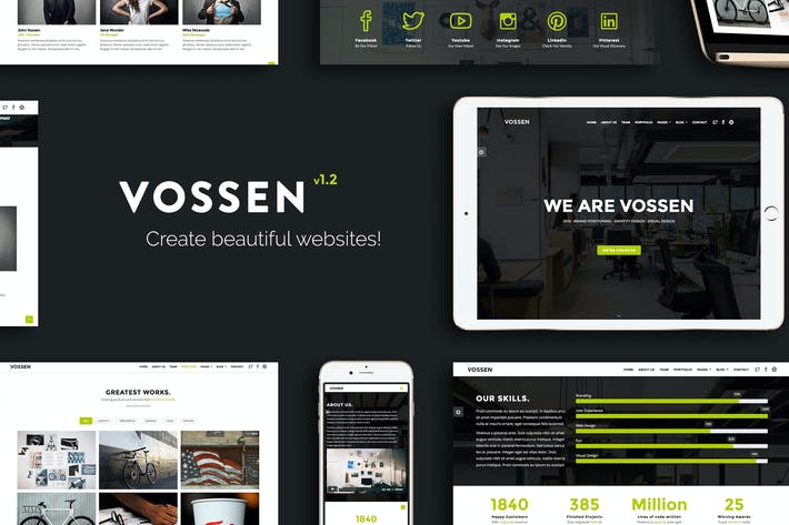 Cover Image For Vossen - Responsive Parallax Multipurpose Template
