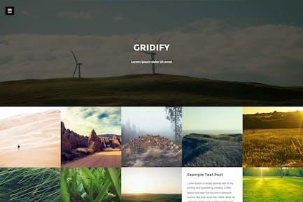 Gridify - Fullsceen Сетка Тема