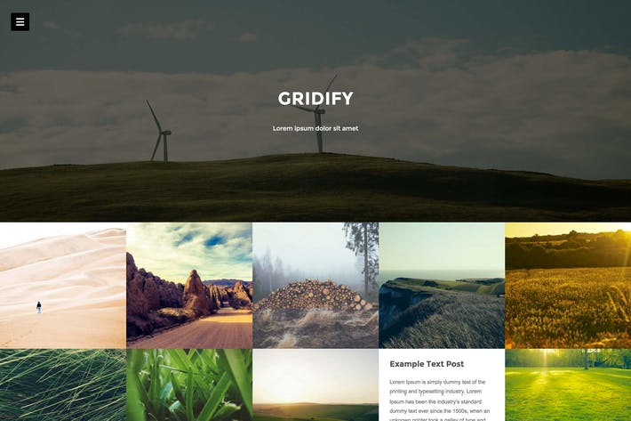 Thumbnail for Gridify - Fullsceen Grid Theme