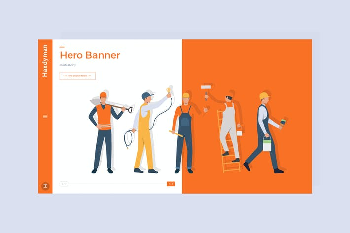 Thumbnail for Handyman - Hero Banner Template