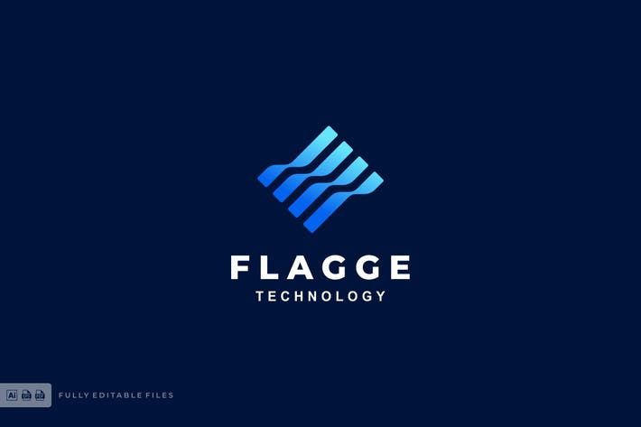 Flag Gradient Logo