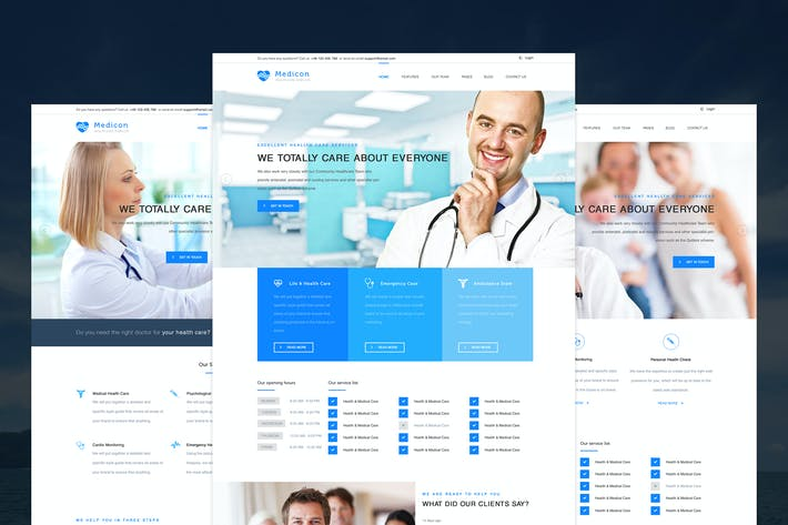 Thumbnail for Medicon - Health Care PSD Template