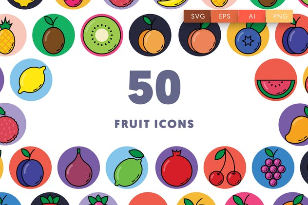 50 Fruit Icons