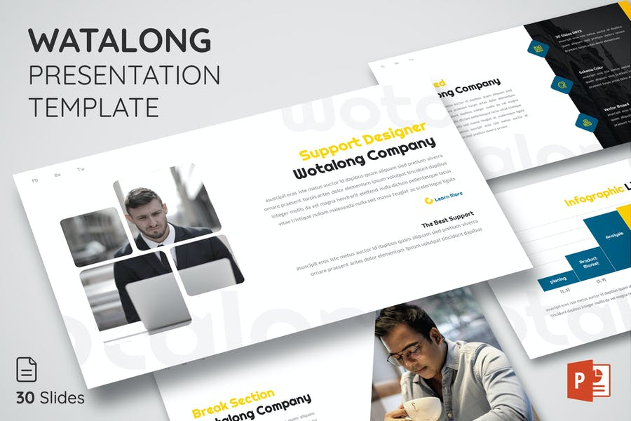Watalong - Powerpoint Presentation Template