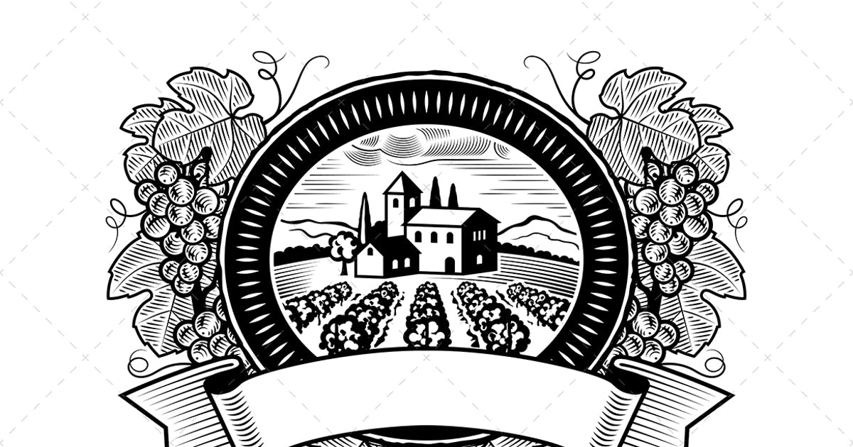 Download Grapes Harvest Label Black And White by iatsun