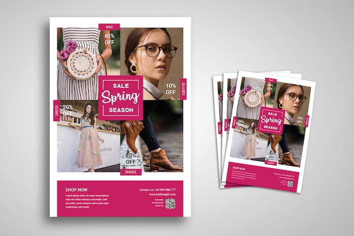 Thumbnail for Fashion Spring Sale Flyer Promo Template