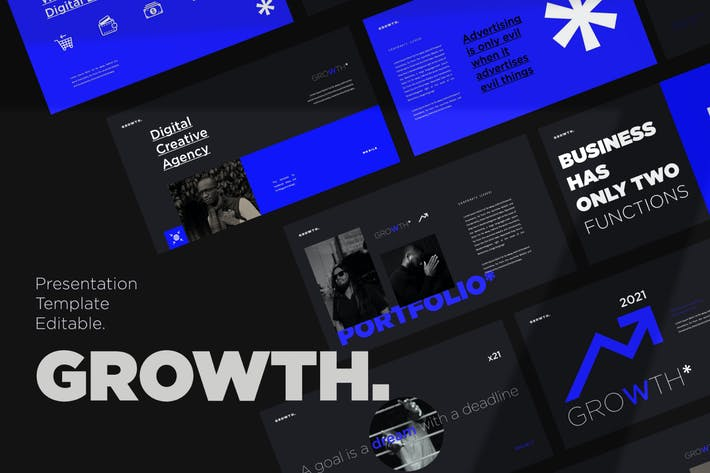Thumbnail for Growth Presentation Template