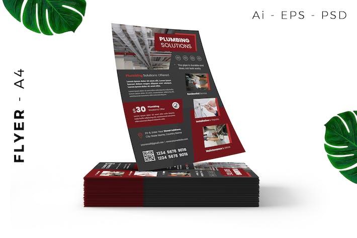 Thumbnail for Plumbing Service Flyer Design