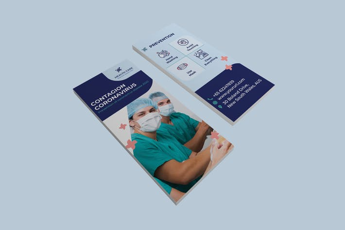 Thumbnail for Coronavirus medical DL Rackcard