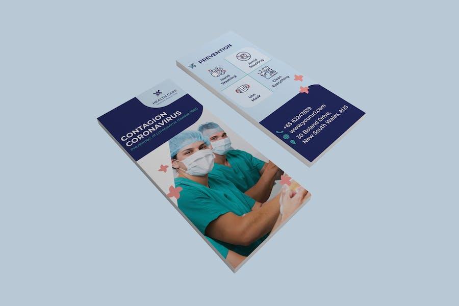 Coronavirus medical DL Rackcard