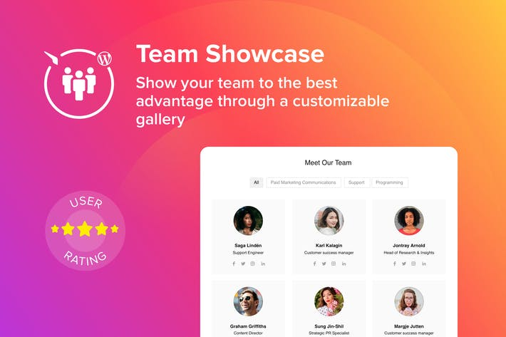Thumbnail for WordPress Team Showcase Plugin