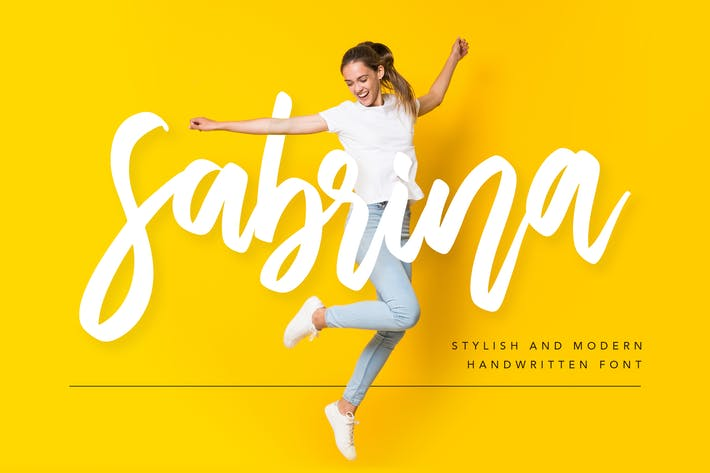 Cover Image For Sabrina Handwritten Font