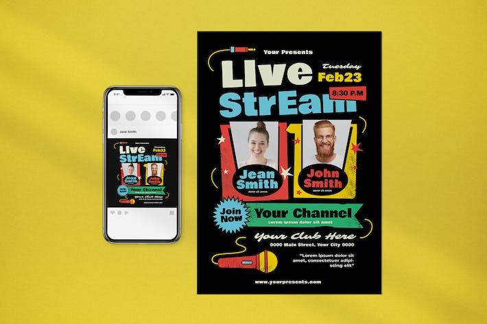 Live Stream Flyer
