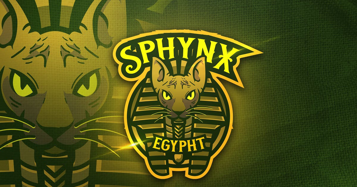 Download Sphynx Egypht -  Mascot & Sports Logo by aqrstudio