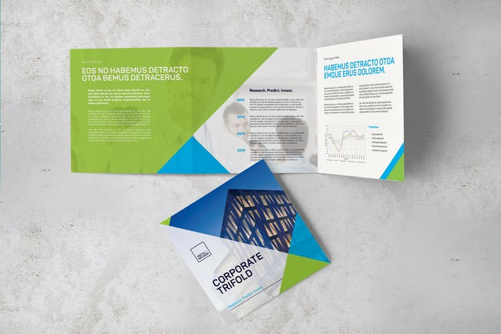 corporate square trifold brochure by digital infusion on envato elements
