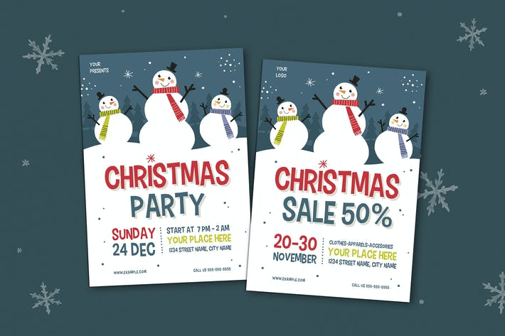 Thumbnail for Christmas Party & Sale Flyer