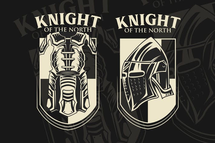 Rüstung Mittelalterliches Vektor-Emblem
