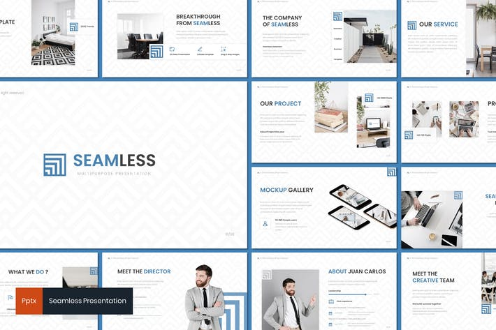 Thumbnail for Seamless - Powerpoint Template