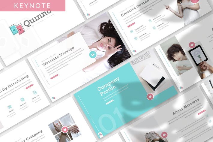 Thumbnail for Quinno - Business Keynote Template