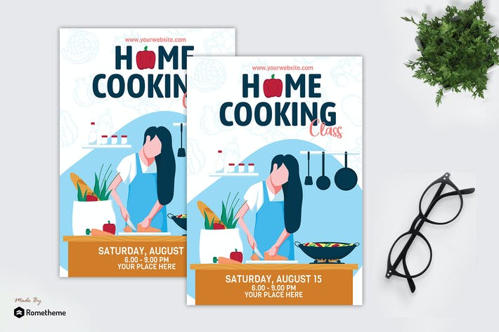 Thumbnail for Home Cooking Class - Creative Flyer GR