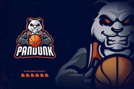 Panda Dunk Mascot Logo