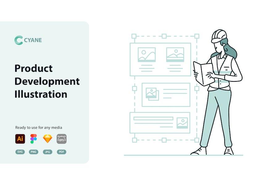 Cyane - Product Development Illustration