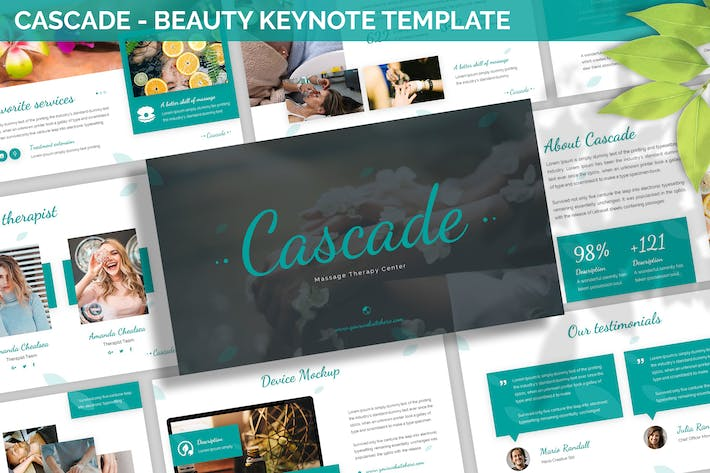 Thumbnail for Cascade - Beauty Keynote Template