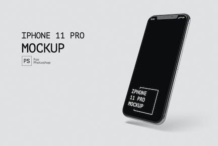 iPhone 11 Pro Isométri View Mockup RZ