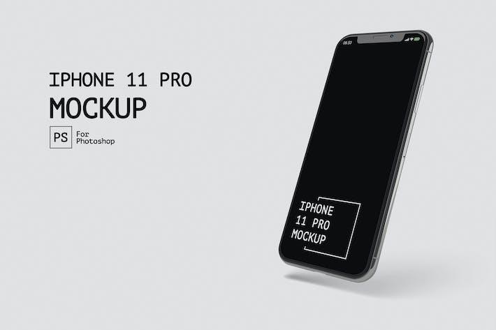 Thumbnail for IPhone 11 Pro Isometri Просмотр макетов RZ