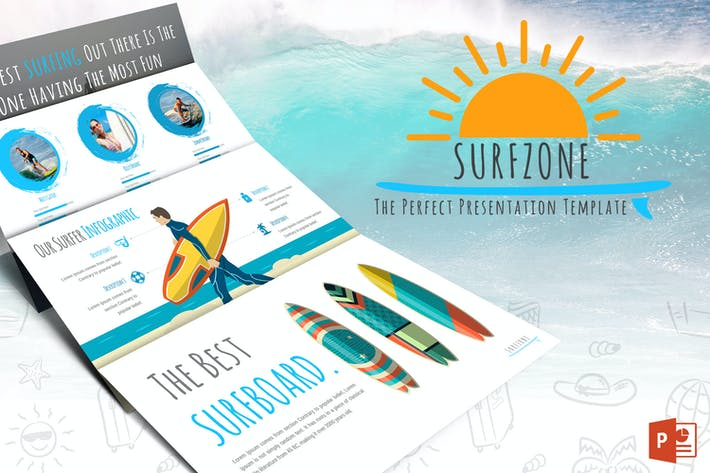 Thumbnail for Surfzone - Powerpoint Template