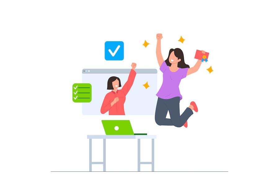 Success Online Course Illustration
