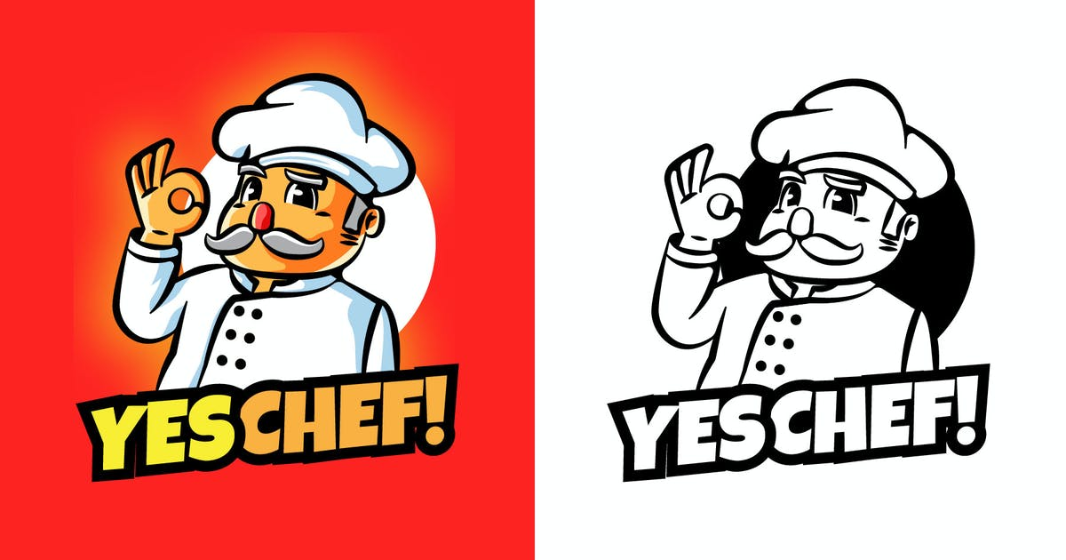 Download YES CHEF Mascot Logo by vincentllora