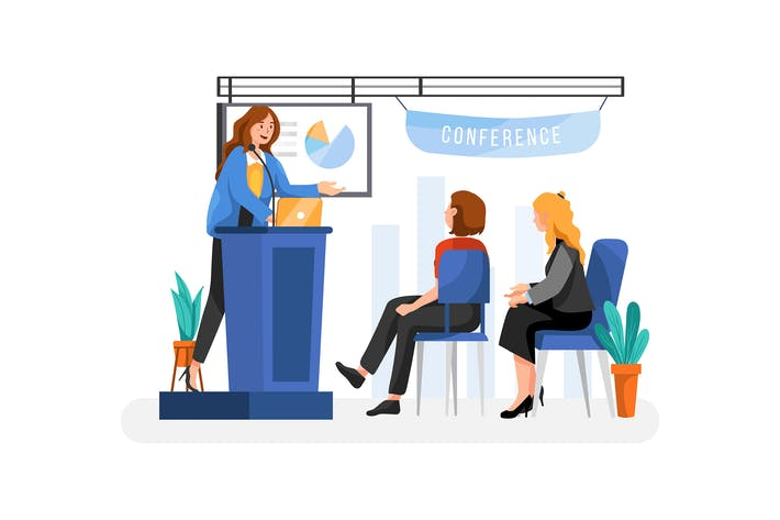 Thumbnail for Business Conference Illustration Konzept