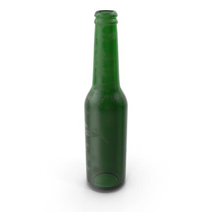 Gebeizte grüne Bierflasche