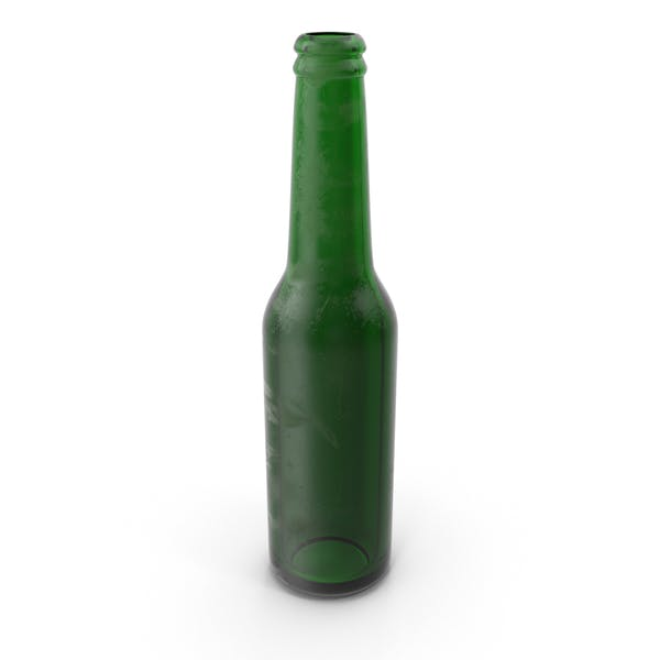 Stained Green Beer Bottle