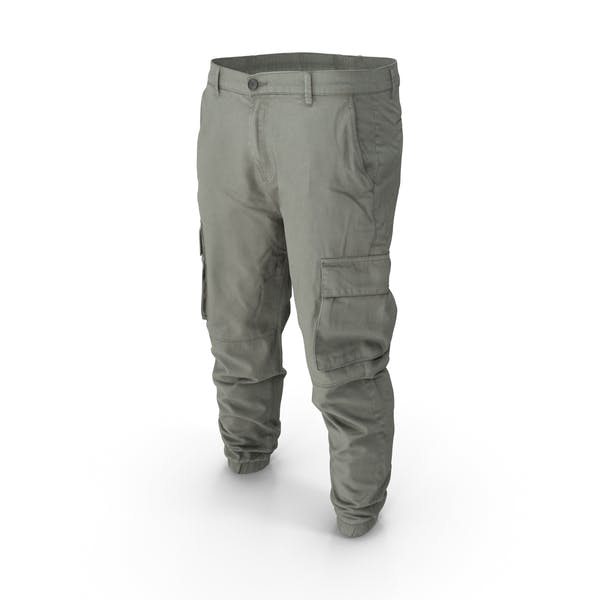 Thumbnail for Mens Grey Cargo Pants
