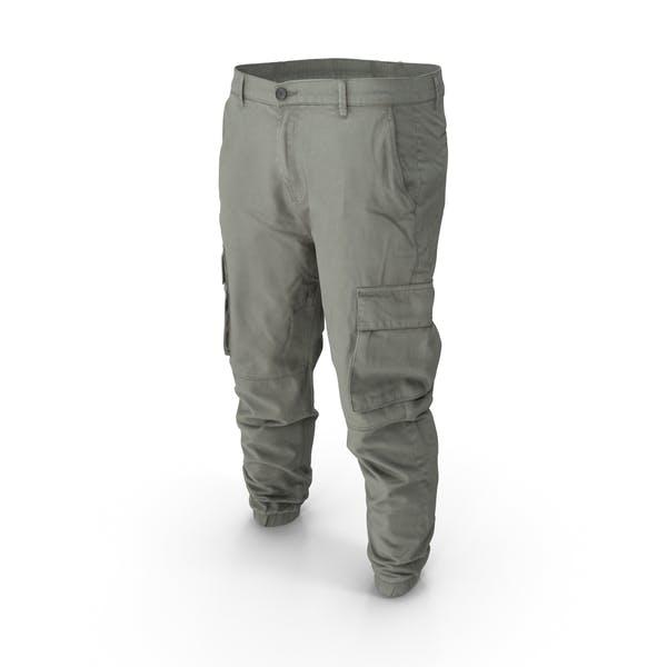 Thumbnail for Мужские серые брюки-карго