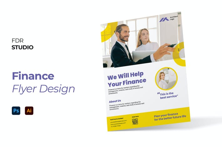 Thumbnail for Finance Corporate Flyer Design