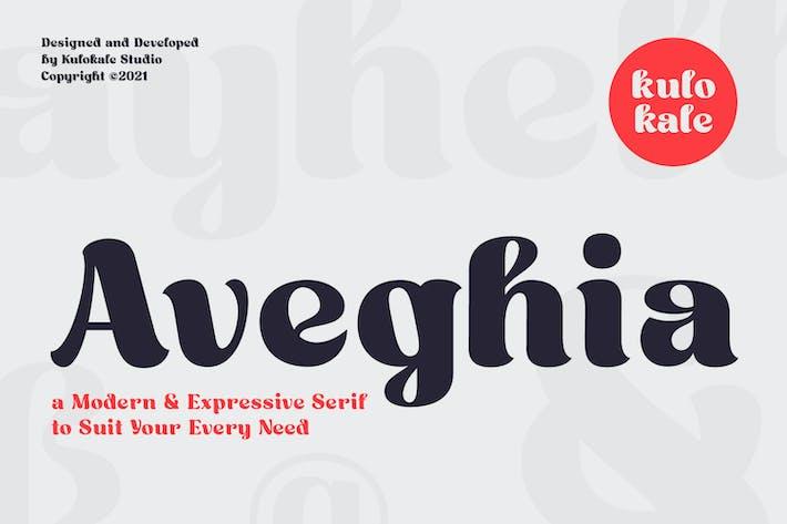 Fuente Con serifa de pantalla de Aveghia