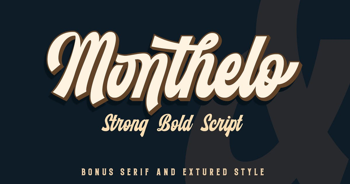 Download Monthelo - Vintage Script Font by Blankids