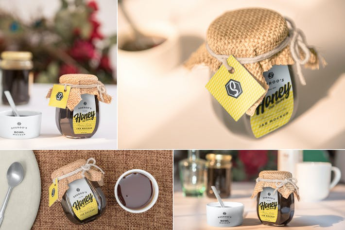 Cover Image For Honey Jar Mockups